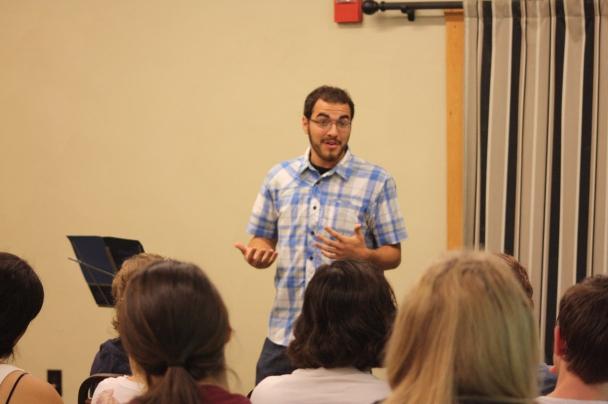 Rob teaching at retreat