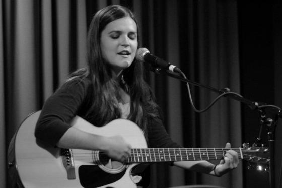 Elizabeth, playing at InterVarsity's worship through talent night
