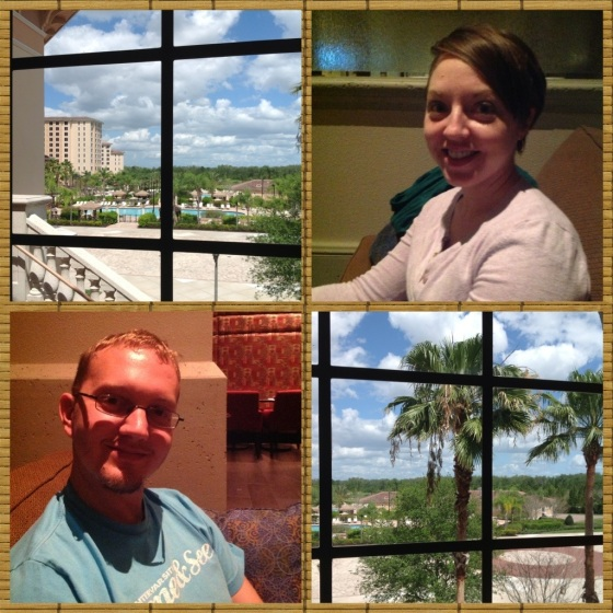 Relaxing, and some pictures of the conference center through the window!