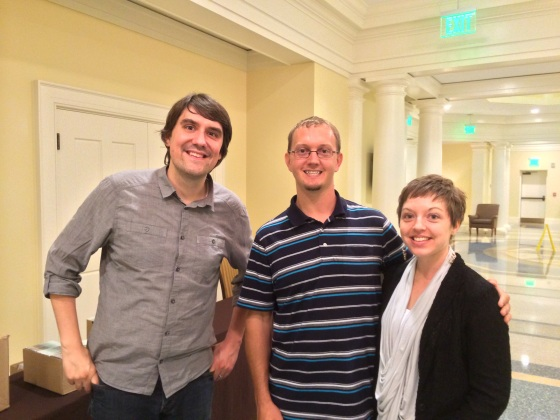 Eric and I with Matthew Smith