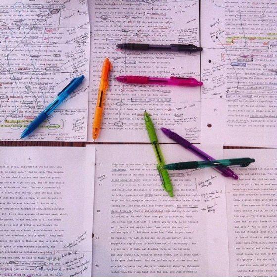 Manuscript & pens